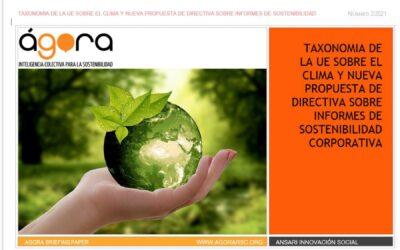 Taxonomía de la UE sobre el Clima y nueva propuesta de Directiva sobre informes de Sostenibilidad Corporativa